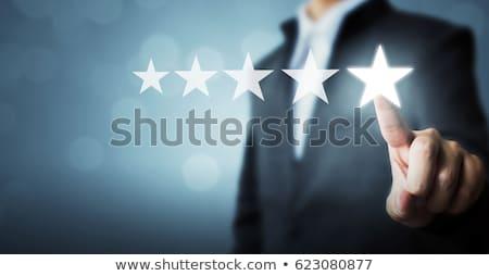 excelente · cinco · estrellas · cliente · evaluación · satisfecho - foto stock © ivelin