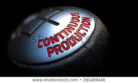Continuous Production on Black Gear Shifter. Stock photo © tashatuvango