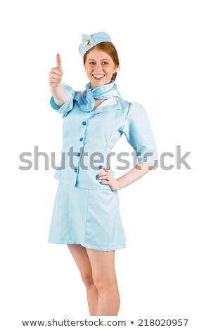 Mavi üniforma güzel Stok fotoğraf © wavebreak_media