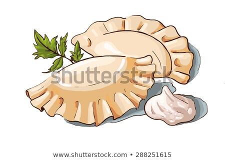 örnek çift ekşi krema maydanoz sıcak pişirmek Stok fotoğraf © artibelka