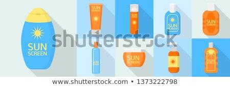 Opalenizna oleju ilustracja plaży ciało morza Zdjęcia stock © adrenalina