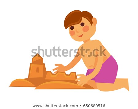 Boy makes sandcastle Stock photo © adrenalina
