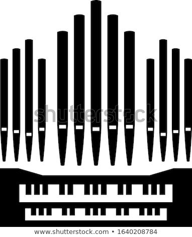 vecchio · pipe · organo · tastiera · chiesa · legno - foto d'archivio © amok