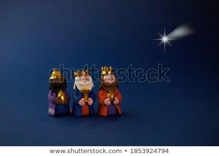 Sábio rei vermelho cinza tabuleiro de xadrez artístico Foto stock © grechka333