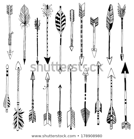 Native american style Sketch Icon Set Stock photo © netkov1