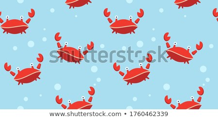 doodle lobster pattern Stock photo © netkov1
