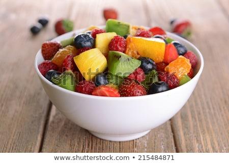 フルーツサラダ · マクロ · クローズアップ · 新鮮果物 · サラダ · 食品 - ストックフォト © geniuskp