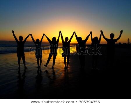 The Sun Set at the Coronado Beach in San Diego in June Stock photo © user_9323633