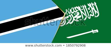 Arabia Saudyjska Botswana flagi puzzle odizolowany biały Zdjęcia stock © Istanbul2009