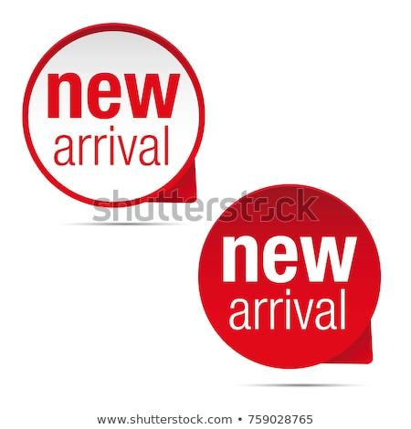новых прибытие красный вектора икона дизайна Сток-фото © rizwanali3d