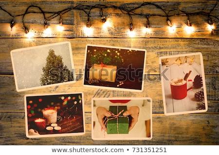 Christmas photo instant frame  Stock photo © marimorena