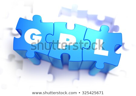 GPL- White Word on Blue Puzzles. Stock photo © tashatuvango