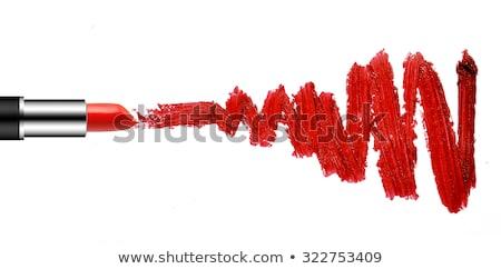 beleza · profissional · make-up · morena · vermelho - foto stock © svetography