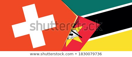 Switzerland and Mozambique Flags Stock photo © Istanbul2009