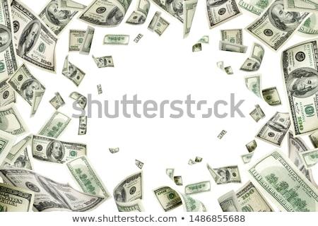 Dollár boglya bankjegyek háttér zöld portré Stock fotó © smuki