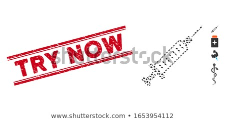 Try Now Red Vector Icon Design Stock photo © rizwanali3d