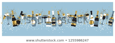 champagne glasses with bottle stock photo © w20er