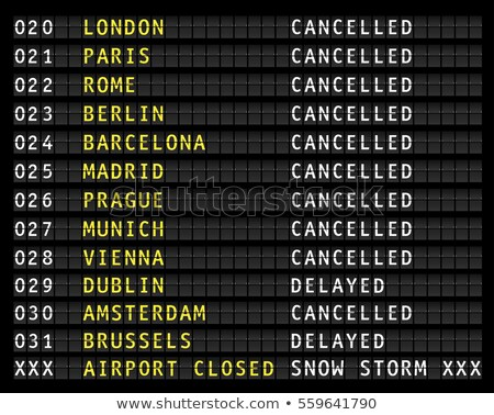 Foto stock: Cancelled Flight In Winter Storm