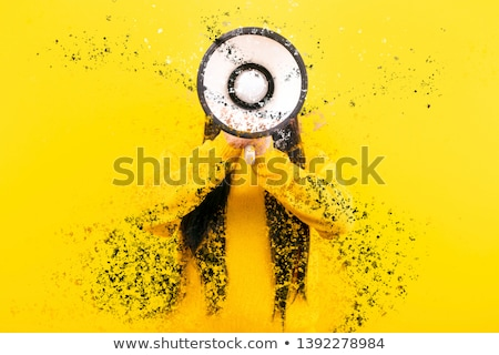 fashion model shouting colorful splash stock photo © ra2studio