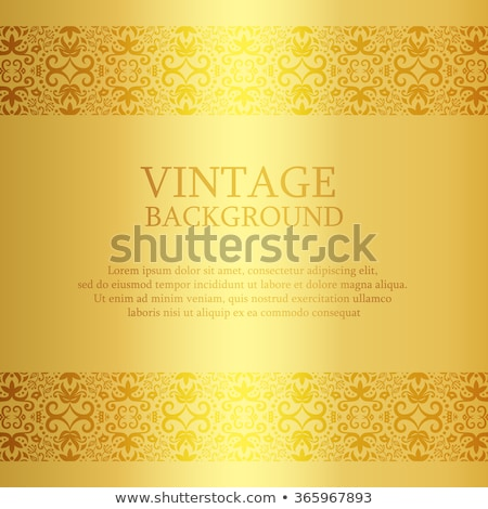 Vintage golden background with lace top and down decoration stock photo © liliwhite