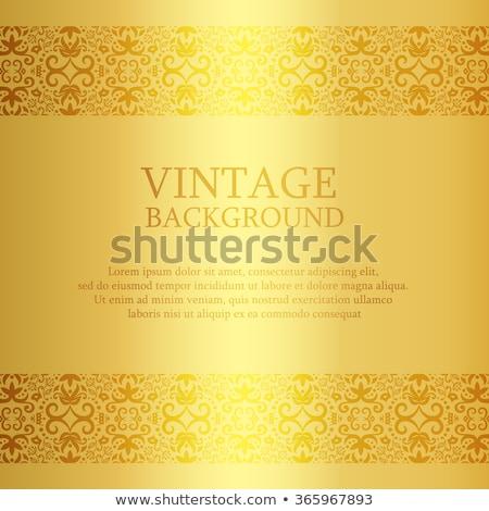 Bağbozumu altın dantel üst aşağı dekorasyon Stok fotoğraf © liliwhite