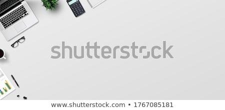 Сток-фото: калькулятор · блокнот · пер · серый · складе · фото