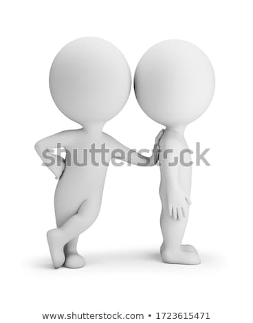 Stock photo: 3d small people - help to the friend