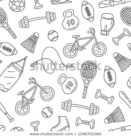 vintage · americano · fútbol · iconos · establecer · gráficos - foto stock © netkov1