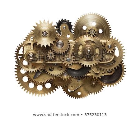 macro · mecânico · engrenagem · relógio · indústria · tempo - foto stock © taigi
