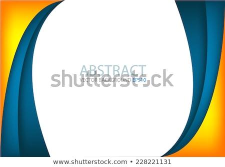 оранжевый желтый синий цифровой волны свет Сток-фото © latent