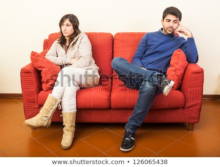 'separated couple on the sofa Stock photo © ambro
