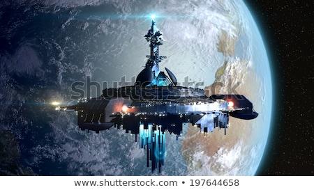 űrhajó Föld bolygó világ űr csillag Stock fotó © Mikko