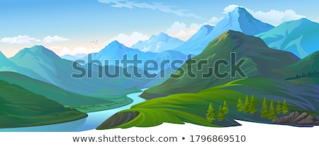 detail of river in the alps Stock photo © meinzahn