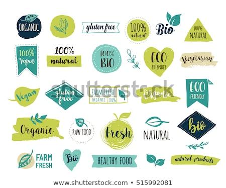 100 · por · ciento · alimentos · orgánicos · precio · etiqueta · etiqueta - foto stock © karamio