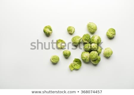 gekookt · Brussel · gekookt · plaat · voedsel · groene - stockfoto © ozgur