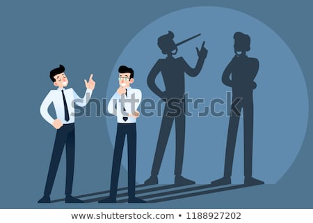 Liar businessman Stock photo © alphaspirit