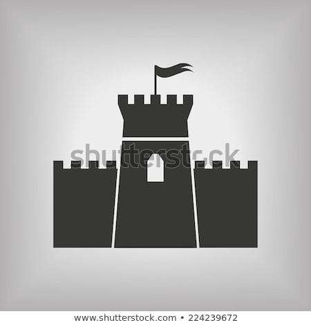 средневековых · Knight · статуя · интерьер · замок · здании - Сток-фото © srnr
