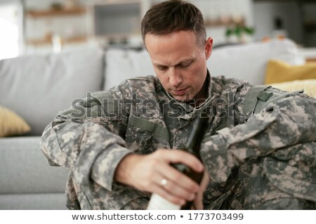 military depression stock photo © lightsource