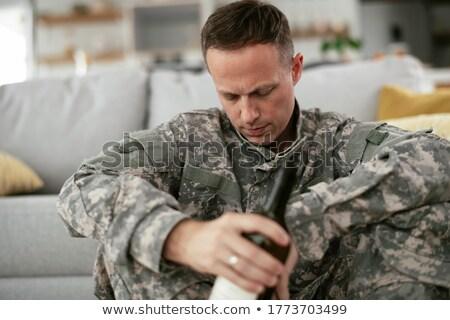 militar · seguridad · símbolo · sombra · soldado - foto stock © lightsource