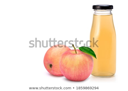 şişe şeffaf su cam elma beyaz Stok fotoğraf © sveter