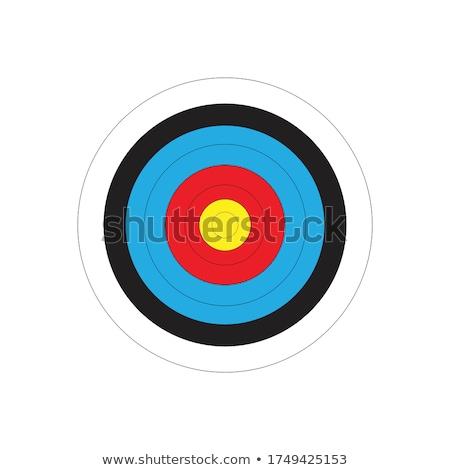 アーチェリー · ボード · 白 · 青 · 赤 · 図面 - ストックフォト © get4net