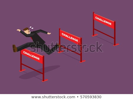 Business challenge and difficulties concept with businessman in  Stock photo © stevanovicigor