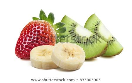 Eper kiwi banán banán üveg étel Stock fotó © user_9834712