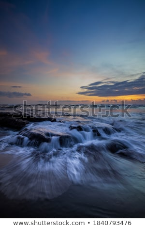 tengeri · kilátás · hullám · hullámok · fény · emelkedő · nap - stock fotó © neirfy
