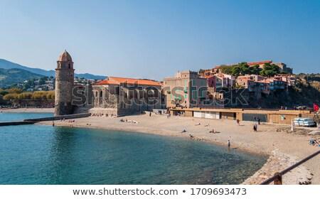 Spiaggia view mediterraneo città acqua panorama Foto d'archivio © hraska