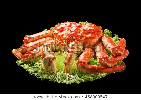 Red king crab served on big plate Stock photo © nasonov