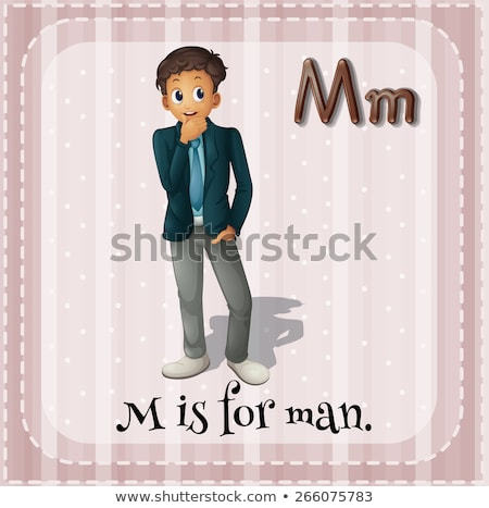 Flashcard letter M is for male Stock photo © bluering