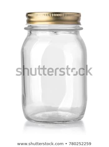 pusty · jar · streszczenie · biały · etykiety · ubóstwa - zdjęcia stock © kitch