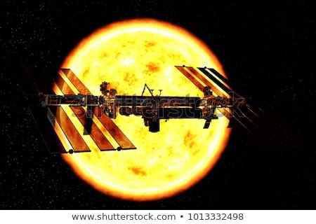 Satellite pianeta illustrazione mondo corpo terra Foto d'archivio © bluering