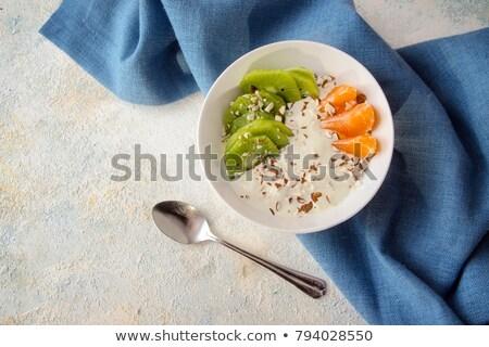 Frutas kiwi remolino alimentos helado postre Foto stock © Digifoodstock
